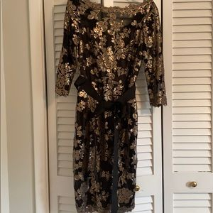 Tadashi Shoji Sequin Midi Dress size 6
